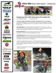 Stud Boy Deadwood ISOC Snocross Race Report